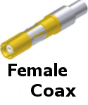 APEX Female Coax Contacts