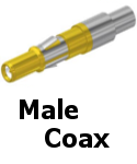 APEX Male Coax Contacts