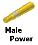 APEX Male Power Contacts