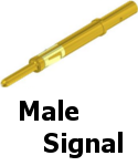 APEX Male Signal Contacts